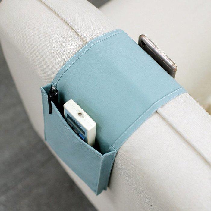 百貨世家 布藝軟收納MZao日式沙發扶手收納袋床邊式布藝雜物整理客廳收納袋遙控器收納