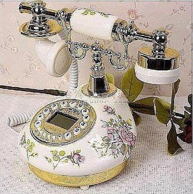 【王哥特賣店】火爆熱賣仿古電話機坐機複古電話機 陶瓷仿古電話機 田園復古電話機