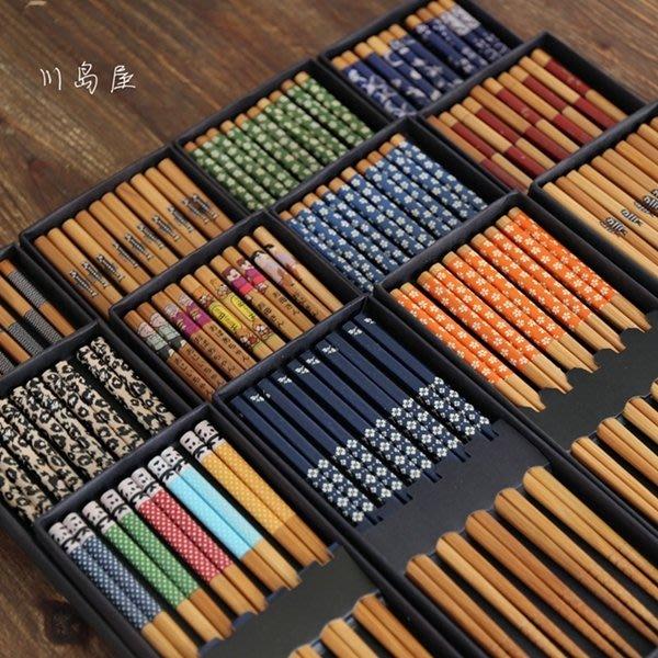 日式禮盒竹木筷子 出口日本筷子餐具5雙入