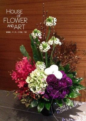 B46【Flower&House花藝之家】開幕盆花。花籃。南港展覽館世貿展。開會喬遷生日婚宴。收禮桌花。