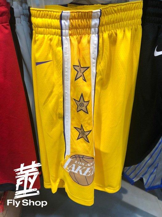 [飛董] NIKE NBA LAKERS 洛杉磯 湖人隊 籃球褲 運動短褲 男裝 BV5873-728 黃
