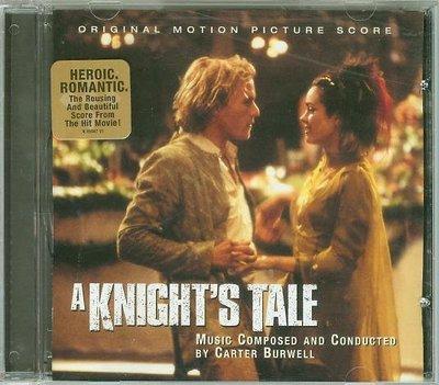 """[原聲帶]-""""騎士風雲錄-配樂版(A Knight's Tale)""""- Carter Burwell(07),美版"""