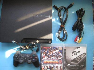 PS3主機一組.2507B.320G.附配件職棒野球魂 GT5 中文版 功能良好