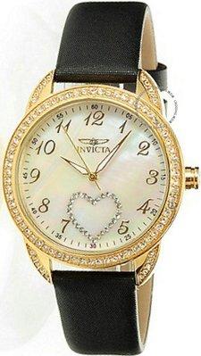 展示品 Invicta 19438 Angel Amor Crystal Accented MOP Dial Leather Strap Womens