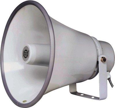 【昌明視聽】SHOW TC-30AH 高功率防水喇叭(30W) 內含中間變壓器 適用戶外廣播 鋁質外觀耐用