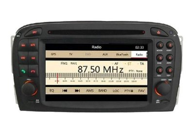 賓士SL SLK CLK R230 W220 W215 S350 音響 SLK-171 音響含papago導航 專用機 觸控螢幕 DVD音響 汽車音響