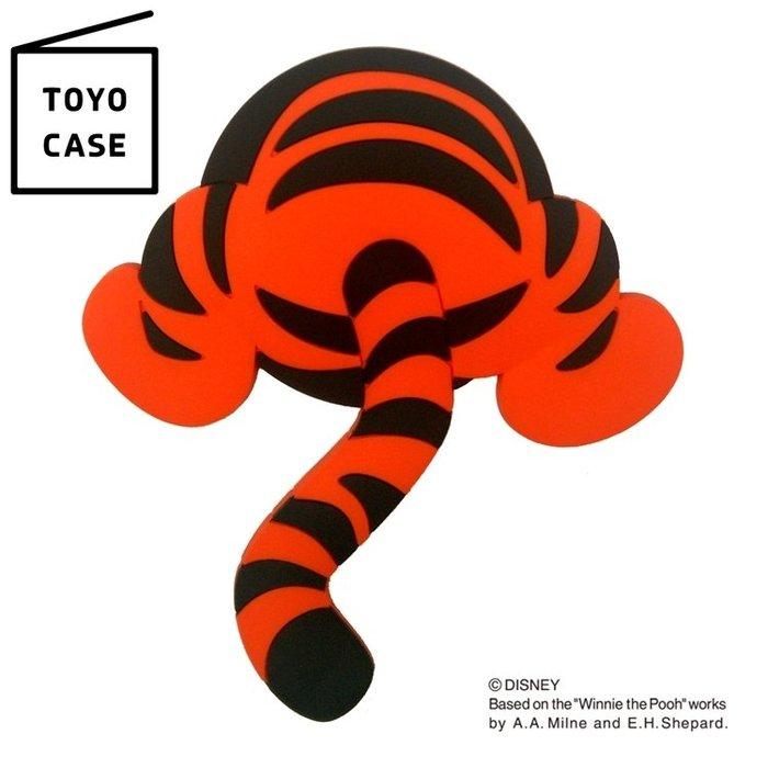 又敗家@日本TOYO CASE迪士尼跳跳虎磁吸掛勾MH-D05白板貼Tigger鑰匙吸鐵掛勾鉤冰箱貼留言板磁鐵貼留言板貼