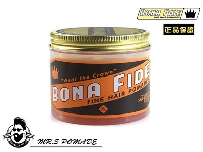 【S先生】現貨 美國 BONA FIDE SUPER SUPERIOR HOLD 髮油 超強力中光澤 水洗式 4oz
