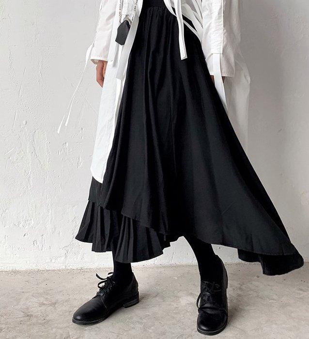 SeyeS  MINI 個性女孩百搭單品古著不規則設計感A字裙