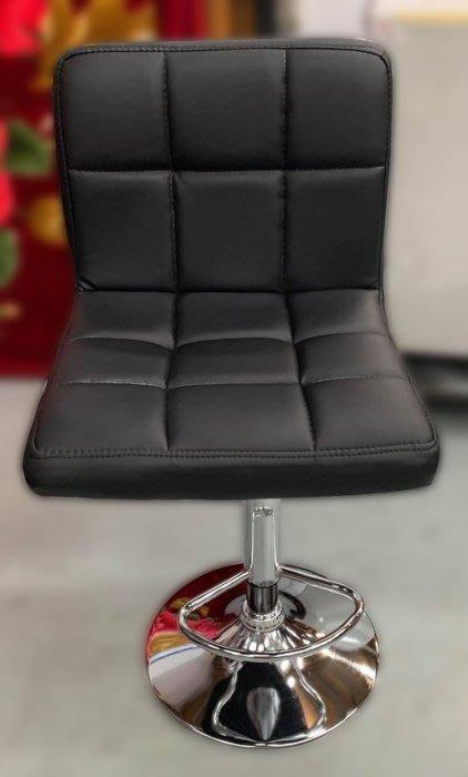 台中二手家具買賣 推薦 西屯樂居中古傢俱館 EA627AA*全新黑皮氣壓吧台椅*二手中古椅子 高腳椅 旋轉椅 吧檯椅