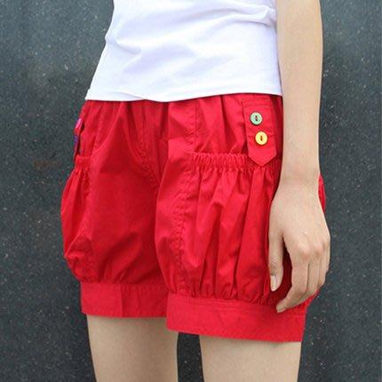 [C.M.平價精品館]新品特價S~2XL/俏麗可愛顯腿瘦顯長高腰棉質燈籠褲/休閒短褲