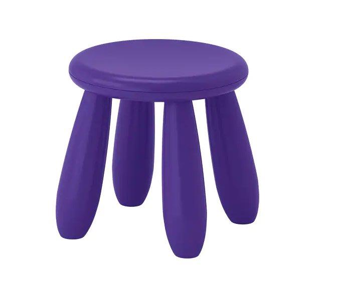 ☆創意生活精品☆IKEA MAMMUT 兒童圓椅 (深紫色)/一個