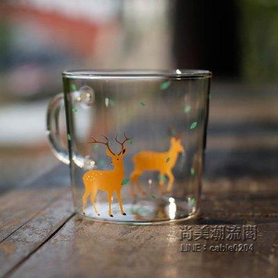 日式和風櫻花玻璃杯子 可愛創意zakk...