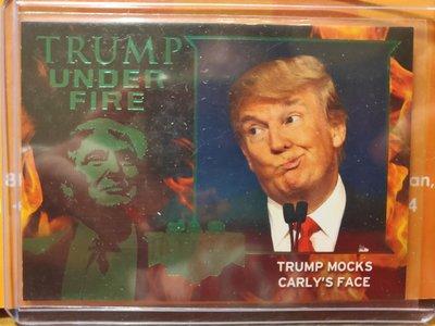(記得小舖)Trump UNDER FIRE系列 川普mocks carly's face 1張普卡 值得收藏台灣現貨