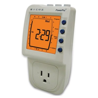 TECPEL 泰菱 》圖示定時器 鐘錶式介面 定時器 110V 2046B 60HZ