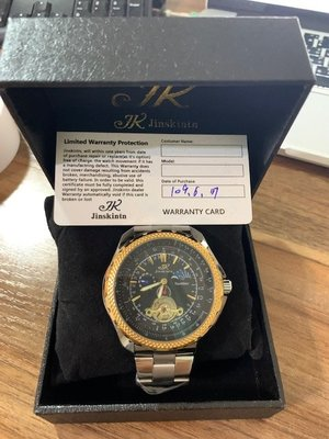 求售求售 Jinskintn 全新 機械錶全新未拆封 買就送桑拿石戒指 免運