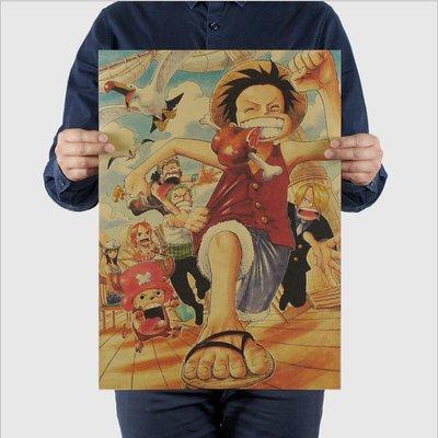 ~貼貼屋~海賊王 ONEPIECE 航海王 七五海 魯夫 喬巴 復古海報 牛皮紙海報 店面裝飾 壁貼1212