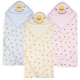 瘋狂寶寶***黃色小鴨 夏季色紗布印花包巾(GT-81588)**特價477元
