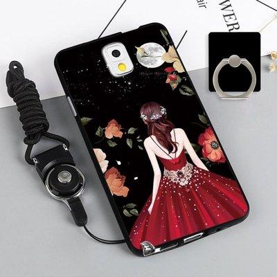 Samsung三星note3 N9008手機套女硅膠防摔 【粉紅豬】