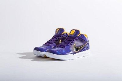 NIKE Kobe 4 Protro Undefeated Los Angeles湖人Lakers紫CQ3869-500