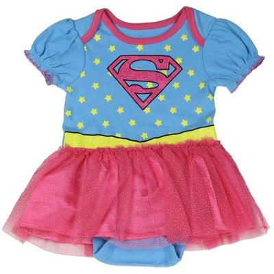 SUPERGIRL GIRLS NEWBORN COSTUME CREEPER DC 超人 女童禮服 新生兒