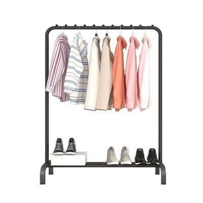 ZIHOPE 曬衣架落地單桿式室內掛衣架折疊曬衣架簡易涼衣桿臥室掛衣服架子ZI812