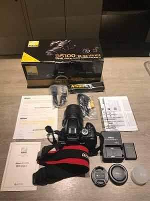二手自售 Nikon D5100 數位單眼相機 含Nikon 18-55mm
