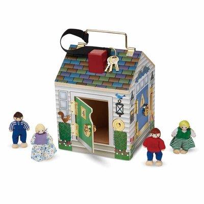 【晴晴百寶盒】美國進口鑰匙開開門 Melissa&Doug扮演角系列手眼協調生日禮物家家酒 益智遊戲玩具W652