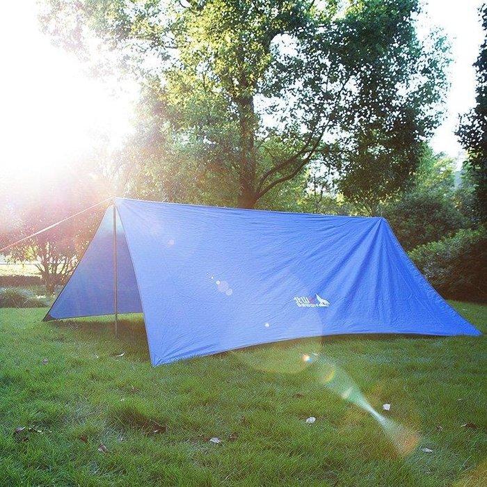 YEAHSHOP 遮陽天幕沙灘帳多人遮陽棚防曬防雨天幕帳篷Y185