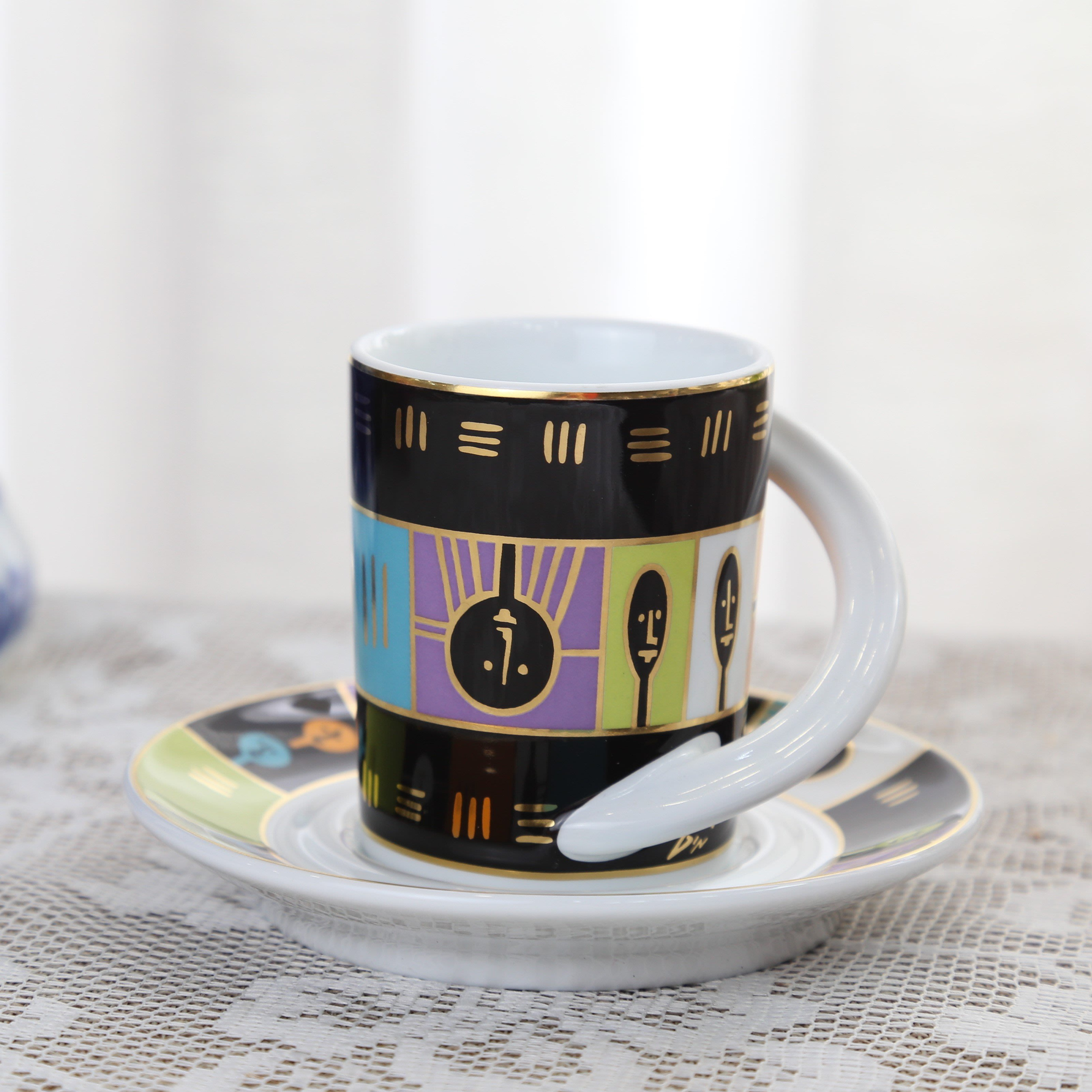 德國羅森泰Rosenthal Cupola Espresso 圓弧把手濃縮杯組 未使用典藏品.No33