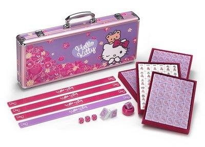 Hello Kitty繁花似雨麻將組 7-11預購款 2021最新力作 酒紅色高級絨布 34mm