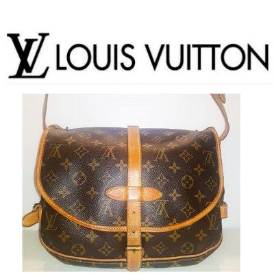 Louis Vuitton 路易威登 LV 原花 老花雙面小馬鞍包 斜背包(M42256) 肩背包1499 1元起標