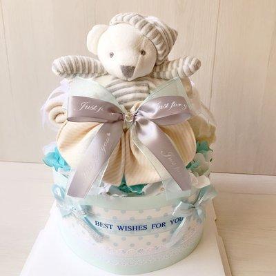 小熊男寶寶尿布蛋糕~最棒的寶寶禮物