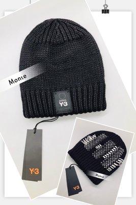 Y3 2018秋冬新款 KNIT BEANIE 巴黎時裝周秀款 黑 DT0883 蒙特歐洲精品