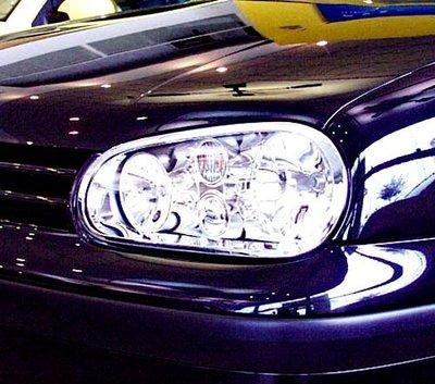 《※金螃蟹※》VOLKSWAGEN 福斯 VW Golf 4 MK4 98~03年 鍍鉻大燈框 前燈框 台灣製造 外銷歐
