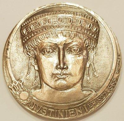 法國銀章 1974 France Notary Cash Deposit Justinien I Medal