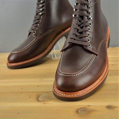 (快速扣) (Alden版型)固特異縫製 純橡膠防滑 紳士靴 西裝靴 厚底靴油蠟牛皮 AG真皮製造