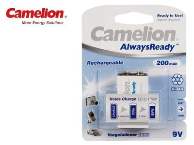 {MPower} 德國名廠 Camelion 9V Rechargeable Battery 低放電 充電池 叉電 - 原裝行貨