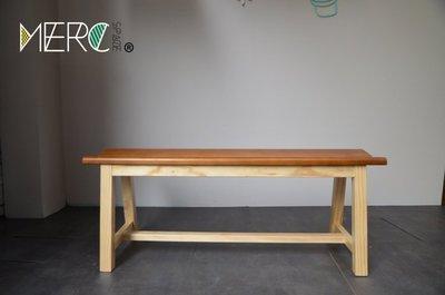 美希工坊 VICTOR bench 勝利凳/實木長凳/柚木色椅面搭配原木色椅架/可訂製/可訂色