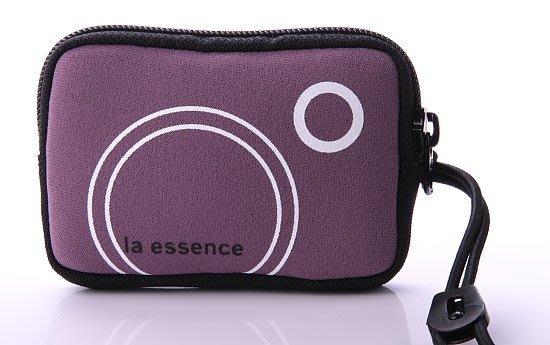 (灰紫色賣場)la essence 熱賣商品~LE-9303Q 手機袋/相機包/卡片零錢包~(附頸吊Q 帶)