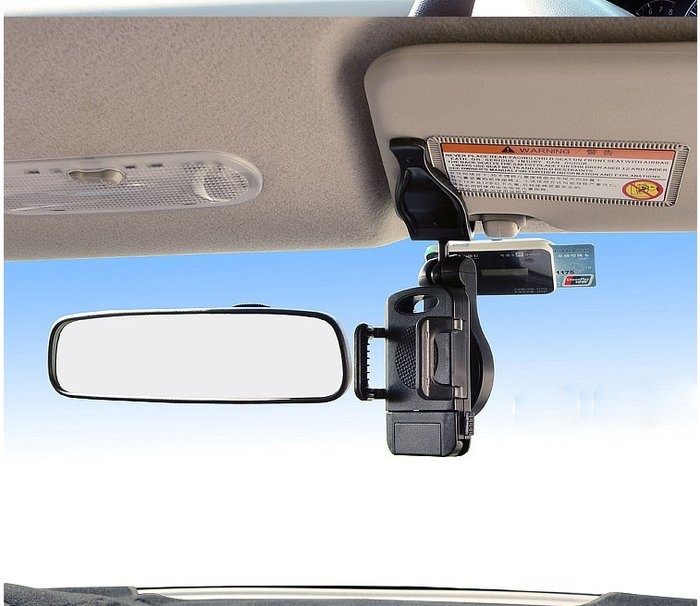 *蝶飛*iphone 7s plus 手機支架 汽車用 遮陽板360度旋轉 手機/GPS衛星導航支架 支撐架 固定架