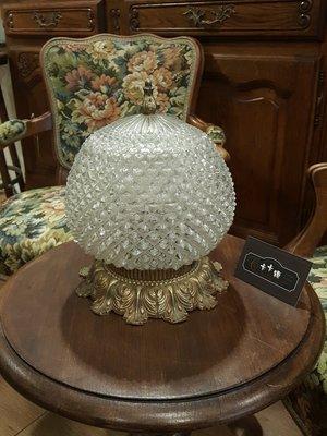 【卡卡頌 歐洲跳蚤市場/歐洲古董】法國 古典 立體球型 雕刻玻璃 花邊 銅雕 歐式 法式 吸頂燈 l0211✬