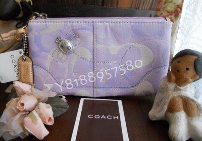 全新真品 Coach 7537 Bumble Bee 紫色系小蜜蜂手拿包