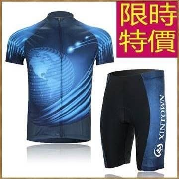 男款單車服短袖套裝-舒適風靡潮流隨性男腳踏車衣55u55[獨家進口][米蘭精品]