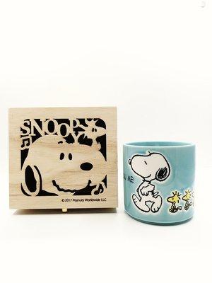 日本 Snoopy史努比陶瓷馬克杯 含精緻收納木盒 組