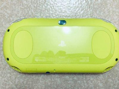 絕版PSV 2000主機青檸綠+硬殼+香菇頭+新螢幕玻璃貼+初音掛繩+卡套+可改機3.65版本8成5新未改機一年保修