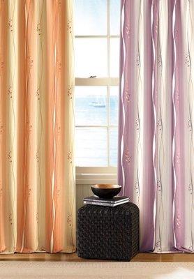 台中窗簾-MIT臺灣製造 ~五合一100% 全遮光  ~ 直線條印花系列 ~.每尺160元特價中《台中市免運費》