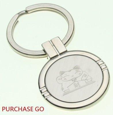 ☆Purchase GO☆ ~ 圓型鎖圈 鎖匙圈 鑰匙圈 鑰匙扣 -小款 -~ (招財貓)