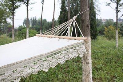 【奇滿來】白色流蘇帶花邊吊床 戶外吊床 婚紗攝影 佈置 飄逸 歐美公主 AFAR