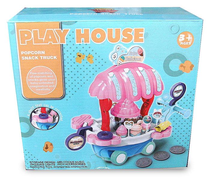 萬向音樂仿真冰淇淋糖果手推車玩具 超市店套裝 過家家玩具 買就送電池